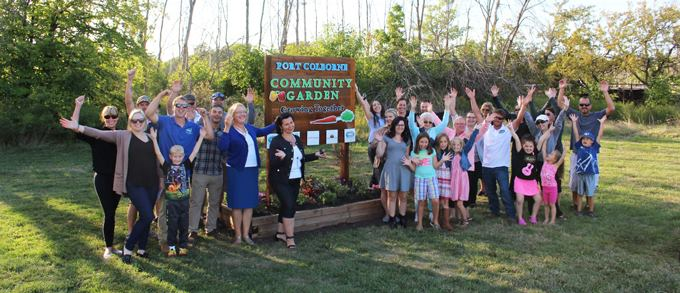 Local businesses team up to grow fresh produce at the Community Garden in Lockview Park, Port Colborne to support Port Cares Reach Out Centre Food Bank