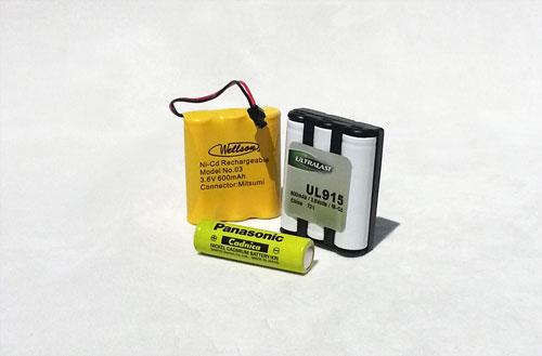 Rechargeable nickel cadmium (NiCd) batteries