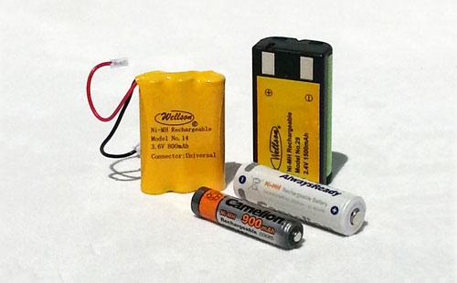Rechargeable nickel metal hydride (NiMH) batteries