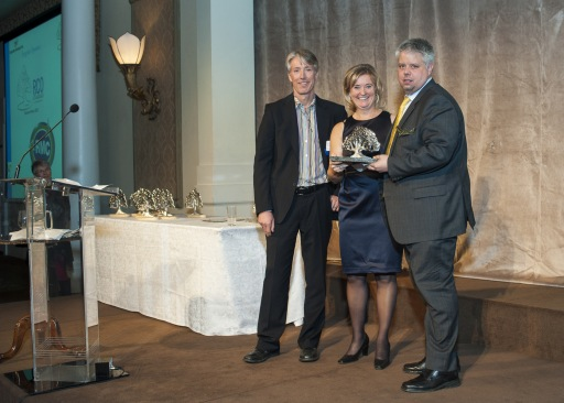 James Ewles of RMC accepting the RCO Platinum Award