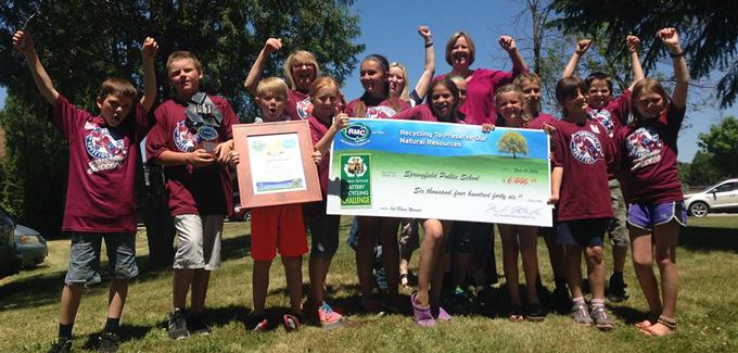 Springfield Public School wins the 2015/2016 Ontario Schools Battery Recycling Challenge!