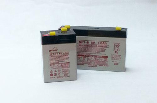 Rechargeable sealed lead acid (SLA) batteries