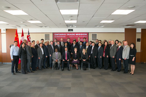Ontario's Trade Mission pose for a picture before departing for China.