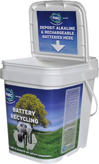 Raw Materials Company 2 Gallon collection container for household batteries