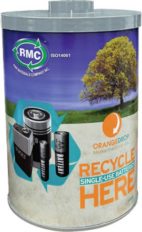 Raw Materials Company 30 collection container for household batteries